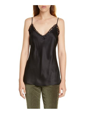 FRAME lace trim silk satin cami