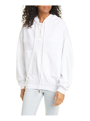 FRAME lace-up hoodie