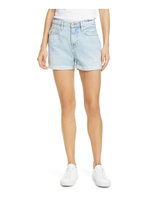 FRAME le beau distressed high waist denim shorts