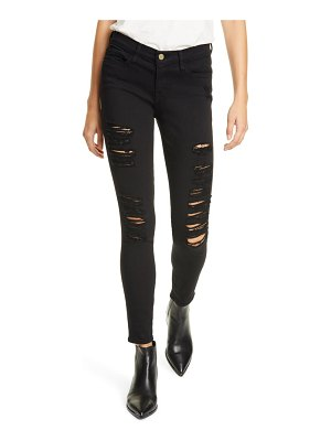 FRAME le color ripped skinny jeans