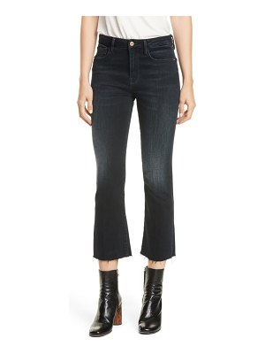 FRAME le crop mini raw hem bootcut jeans