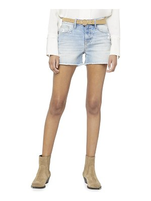 FRAME Le Grand Garcon Shorts with Raw Hem