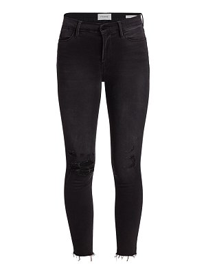FRAME le high raw-edge crop skinny jeans