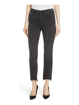 FRAME le high raw stagger straight jeans