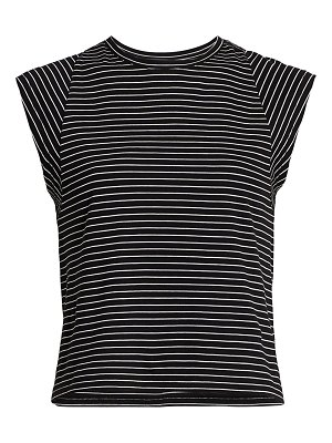 FRAME le high-rise striped muscle t-shirt