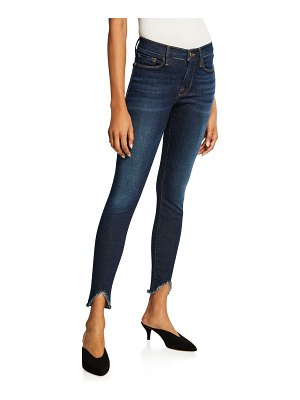 FRAME Le High Skinny Ankle Jeans with Chewed Hem