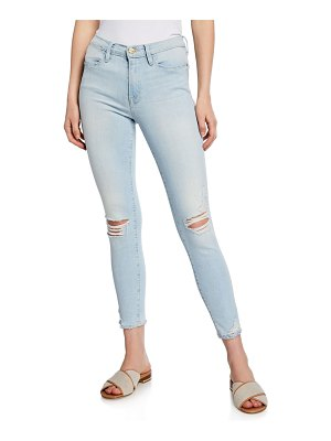 FRAME Le High Skinny Distressed Jeans