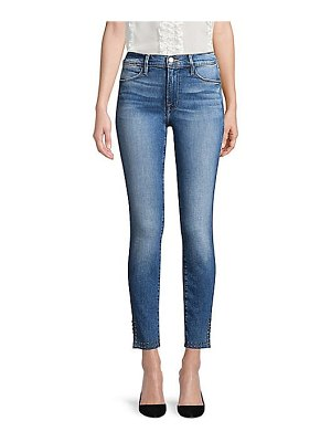 FRAME le high skinny split jeans