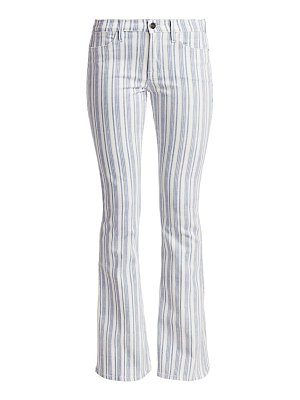FRAME le high striped flare jeans