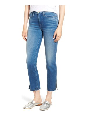 FRAME le high stud raw hem ankle straight leg jeans