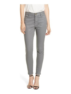 FRAME le high waist coated skinny jeans