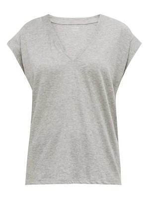 FRAME le mid v neck cotton t shirt