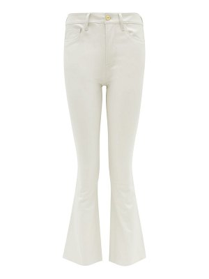 FRAME le mini cropped bootcut leather jeans