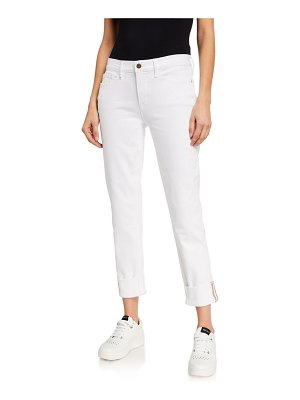 FRAME Le Nik Mid-Rise Straight Cuffed Jeans