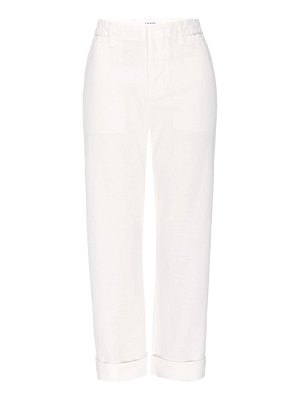 FRAME le tomboy cuffed trousers