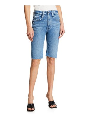 FRAME Le Vintage Bermuda Shorts with Raw Edge