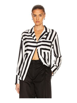 FRAME mix stripe pj blouse