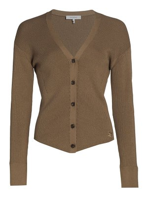 FRAME phoebe mini rib fitted cardigan