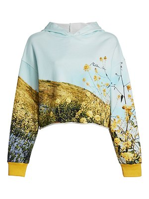 FRAME photo real cropped cotton hoodie