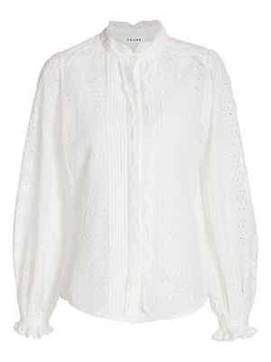 FRAME pleat button-down shirt