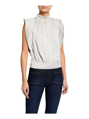 FRAME Pleat Silk Top