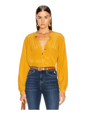 FRAME pleated blouse