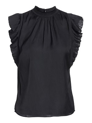 FRAME pleated ruffle top