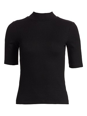 FRAME ribbed funnel neck top