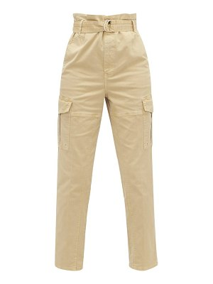 FRAME safari belted cotton-blend twill cargo trousers