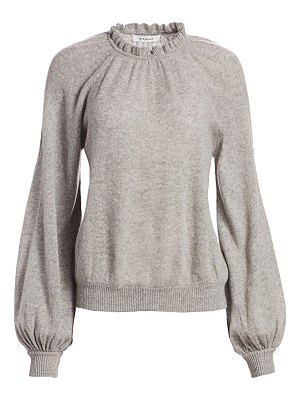 FRAME shirred sustainable cashmere balloon-sleeve sweater