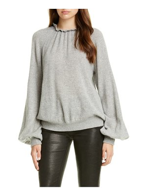 FRAME shirred puff sleeve cashmere sweater