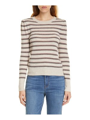 FRAME shirred stripe cashmere sweater