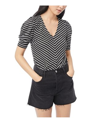 FRAME shirred stripe top