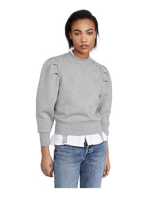 FRAME shirred sweatshirt