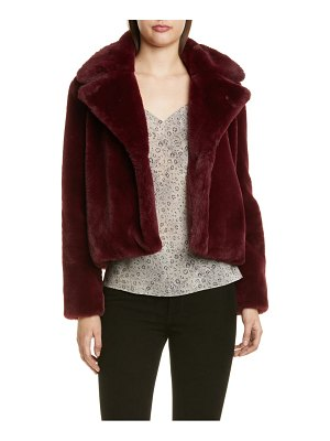 FRAME short faux fur coat