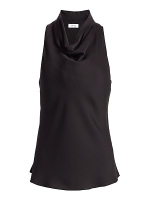 FRAME silk draped sleeveless top