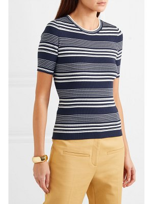 FRAME striped ribbed-knit top