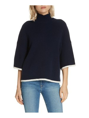 FRAME tipped wool & cashmere sweater