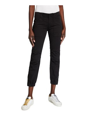 FRAME Trapunto Moto Pants with Banded Bottom