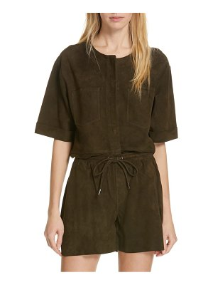 FRAME walking suede tunic top
