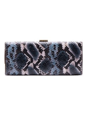 Frances Valentine eleni snake embossed leather clutch