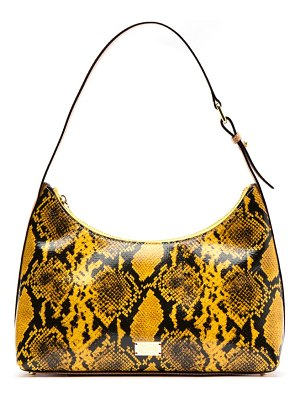 Frances Valentine laura snake embossed leather hobo