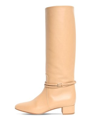 Francesco Russo 35mm leather tall boots