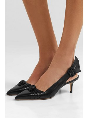 Francesco Russo knotted leather slingback pumps