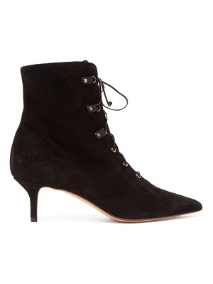Francesco Russo lace up suede ankle boots