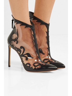 Francesco Russo leather and pvc ankle boots