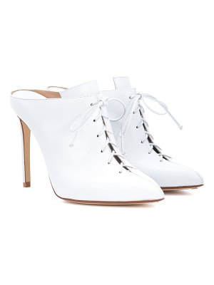 Francesco Russo Leather lace-up mules