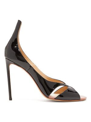 Francesco Russo patent-leather stiletto sandals