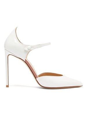 Francesco Russo point-toe mary-jane patent-leather pumps