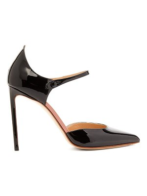 Francesco Russo point-toe patent-leather mary jane pumps